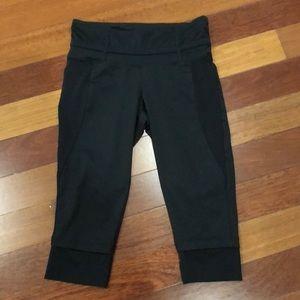 Pants - Mesh cut out cropped workout pants black small